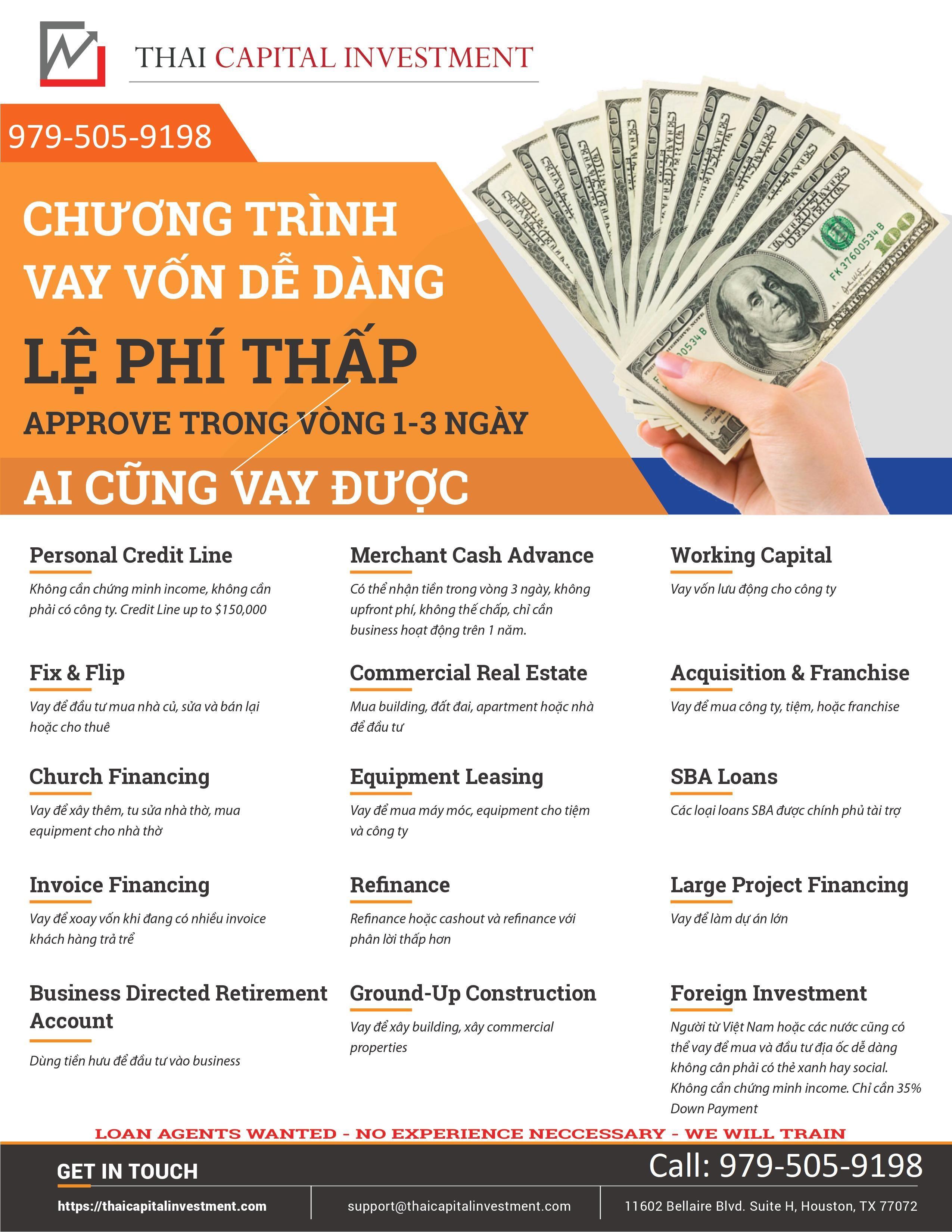 Cho vay khong the chap, khong chung minh income, cho vay mua nha