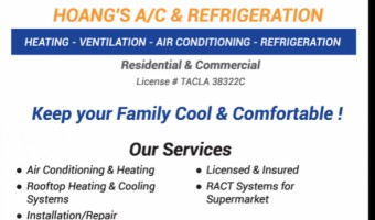 HOANG'S A/C & REFRIGERATION